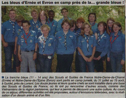 Article du courrier de la Mayenne